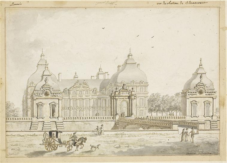 Château de Blérancourt vers 1640