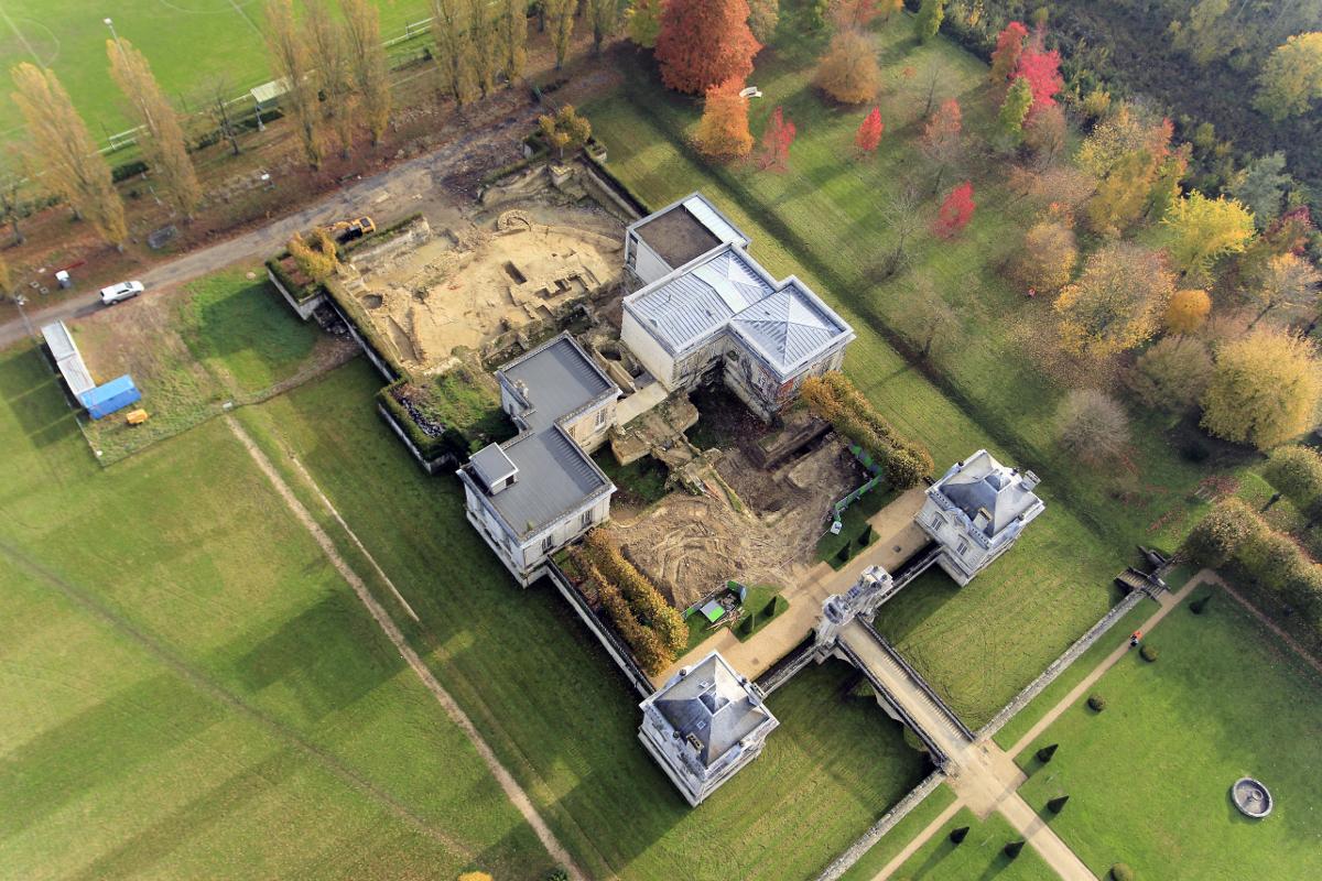 Vue aérienne du Musée franco-américain du château de Blérancourt