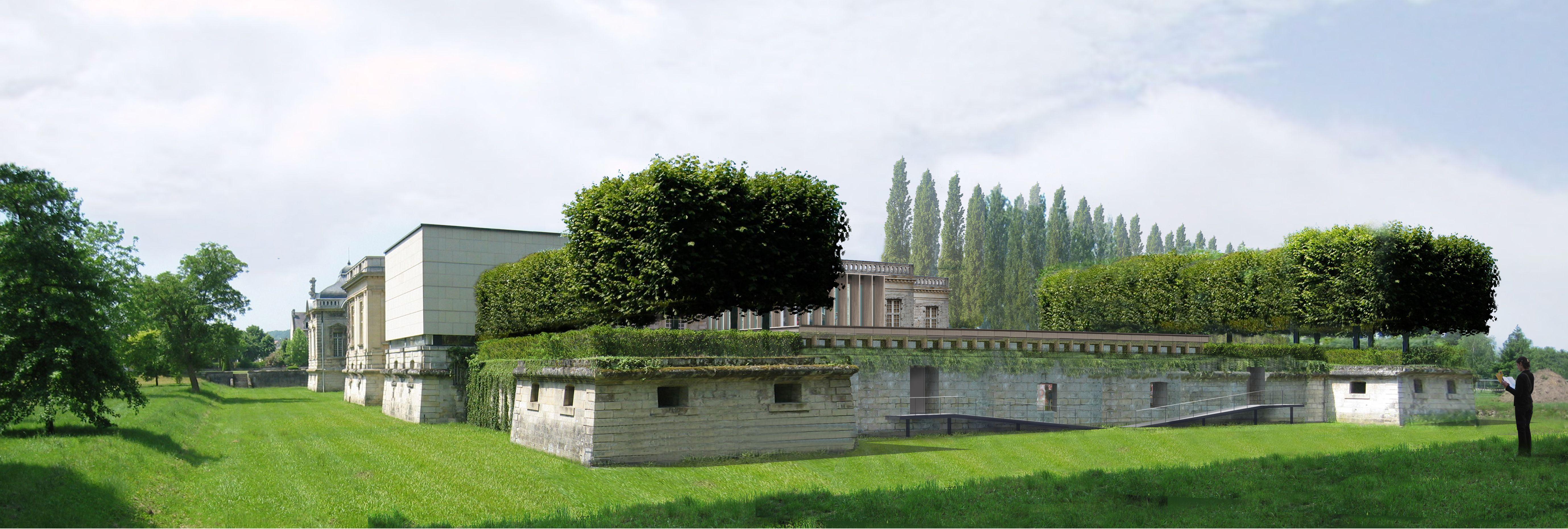 Perspective arrière Ateliers Lion / Musée franco-américain du château de Blérancourt