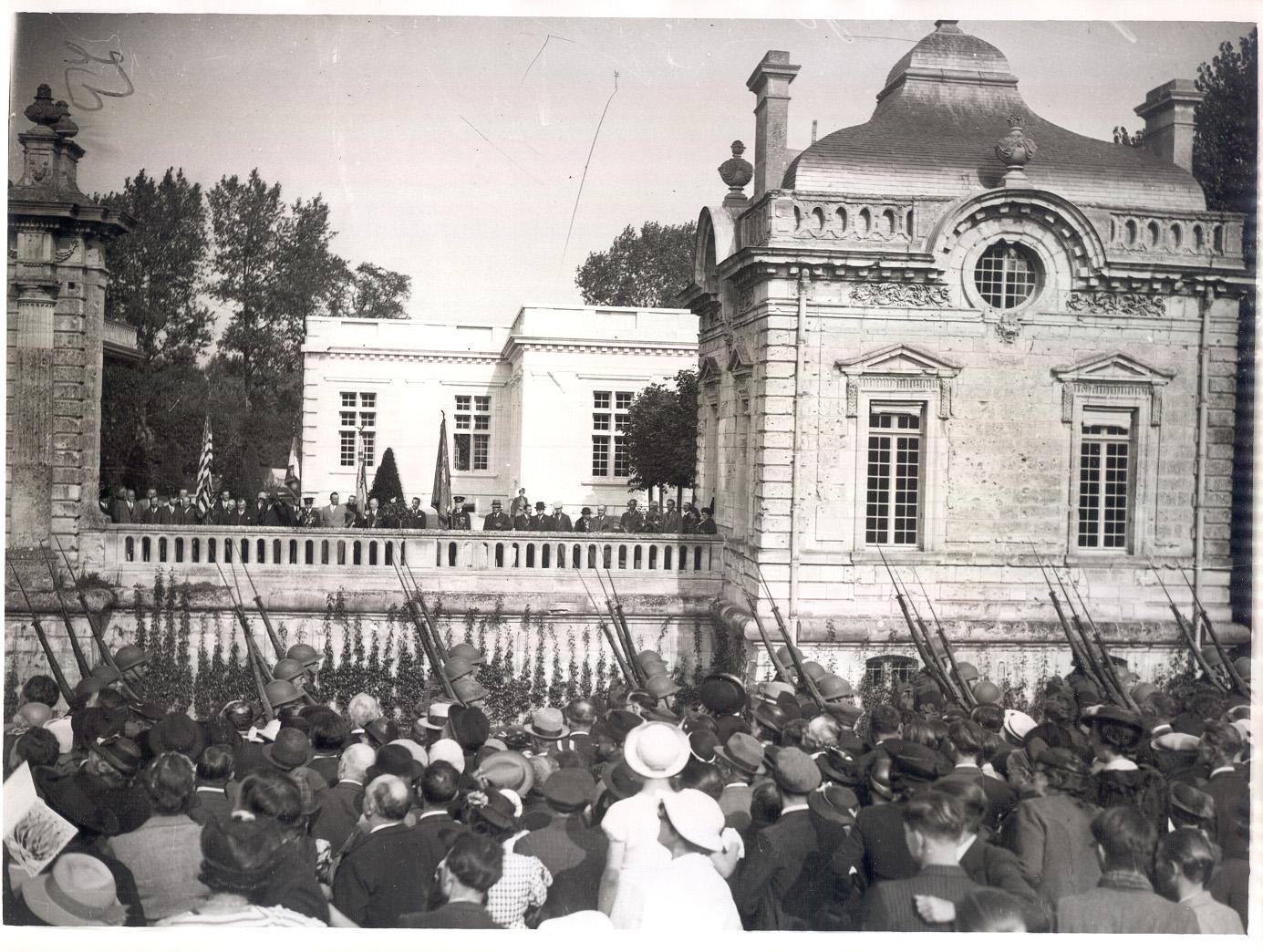 Inauguration du pavillon des volontaires en 1938