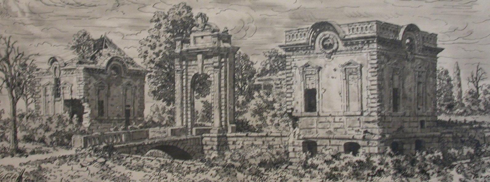 Château de Blérancourt en 1917