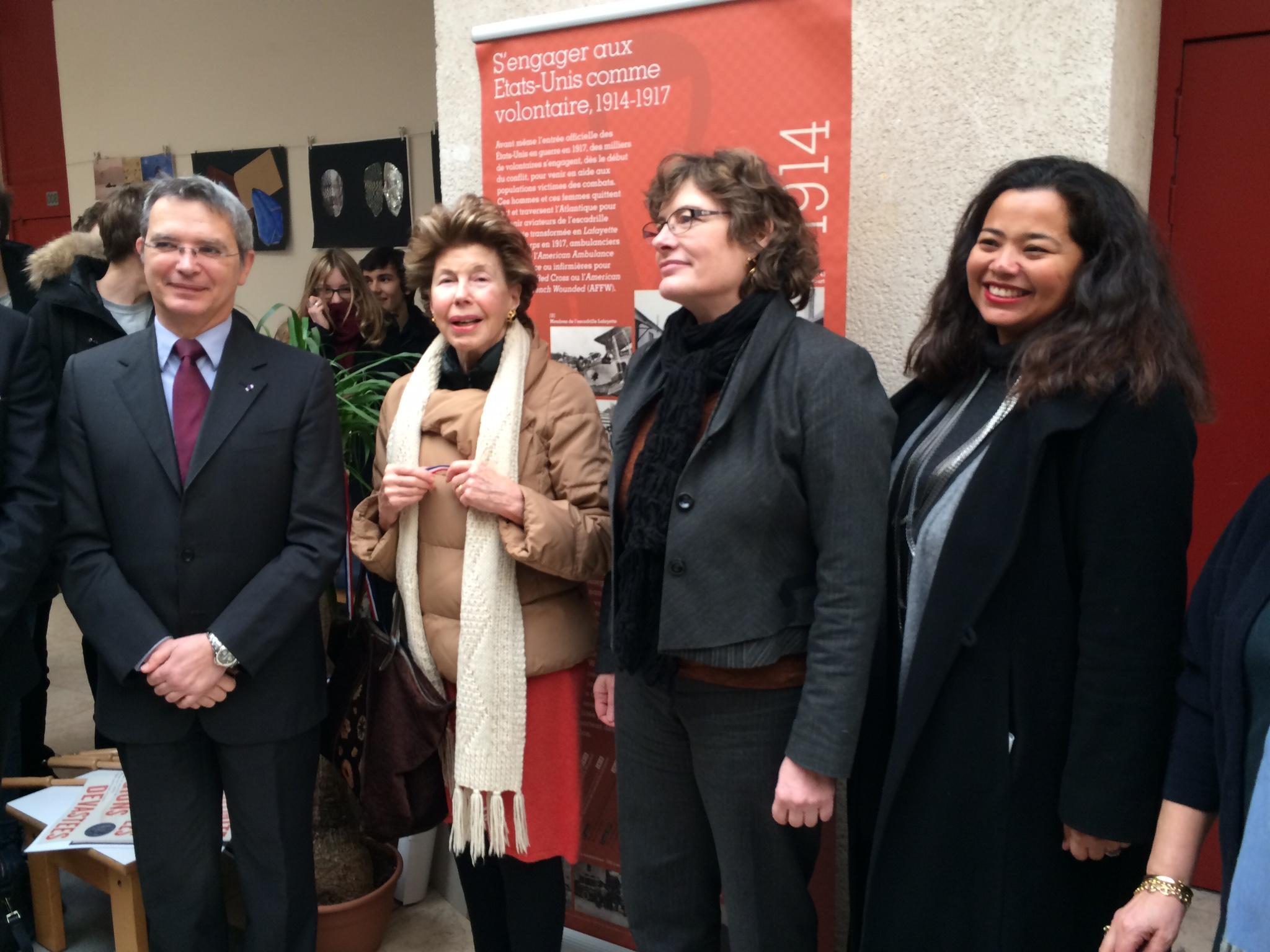 Inauguration de l'exposition Anne Morgan au lycée Victor Duruy (Paris VII)